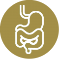 icon Gi tract gold background